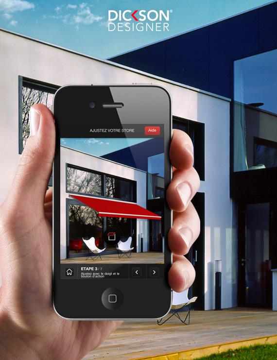Dickson designer - simulation store exterieur iphone