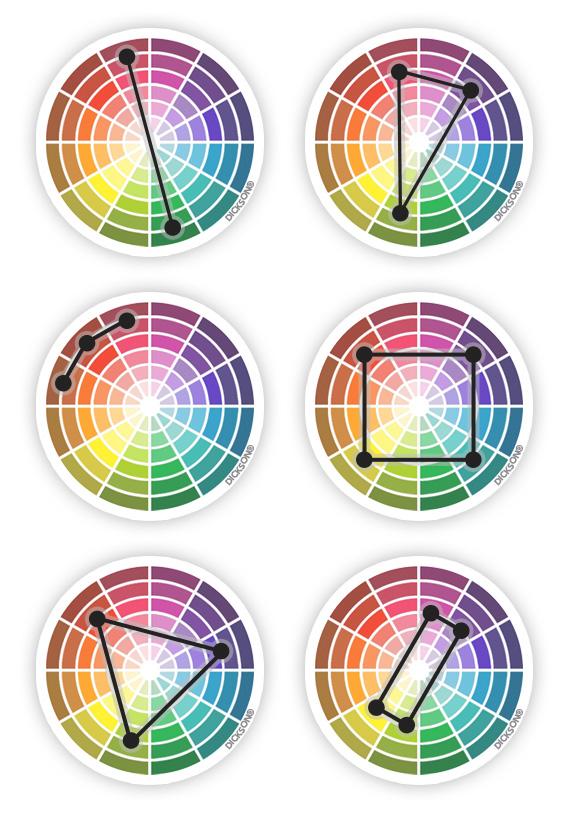 Cercle chromatique couleurs de toile et tissus